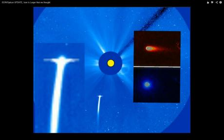 ISON Spitzer UPDATE Ison Is Larger that we thought